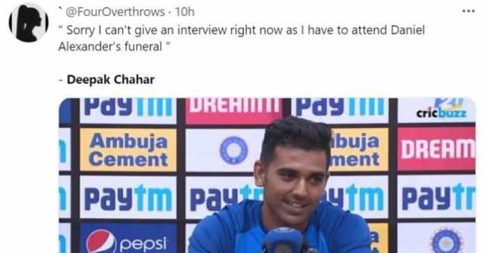 tions to incredible 69* by Deepak Chahar | Twitter reactions to 69* by Deepak Chahar to lead India to thrilling 3 wicket win vs Sri Lanka