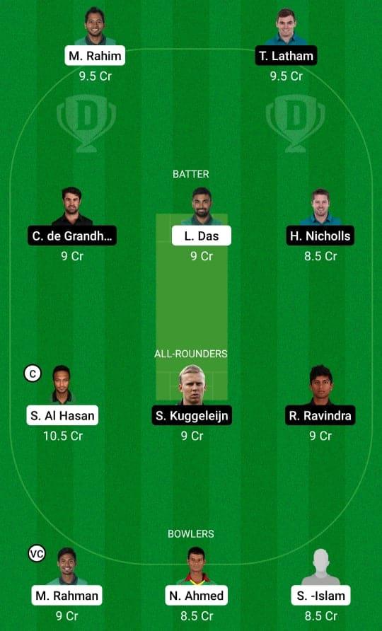 BAN vs NZ 1st T20 Dream11 & Fan2Play Prediction Possible Playing 11 Pitch Report | BAN vs NZ 1st T20 Dream11 Prediction Today | Bangladesh vs New Zealand 1st T20I Key Players | Dhaka Pitch Report