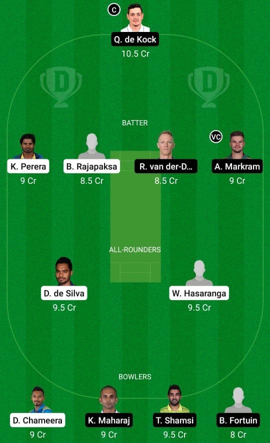 SL vs SA 3rd T20 Dream11 Prediction