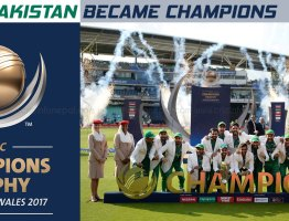 Pakistan crush India by 180 runs to win the Champions Trophy 2017
