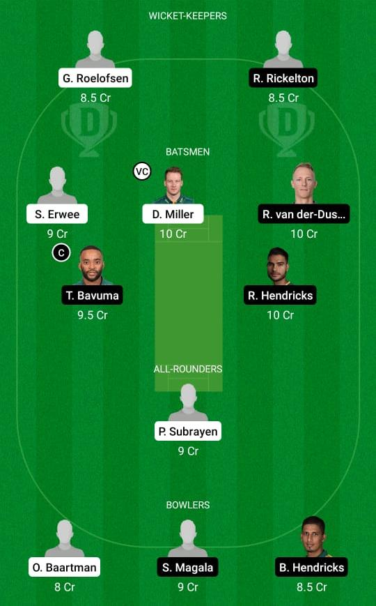 DOL vs HL Dream11 Prediction Fantasy Cricket Tips Dream11 Team South African T20 Challenge