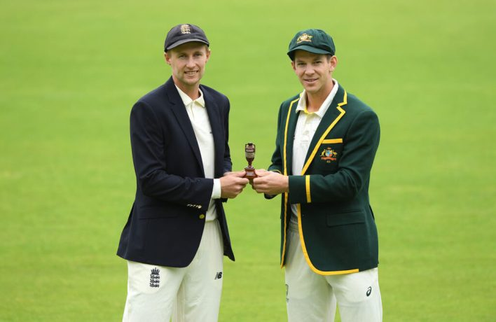 Joe Root and Tim Paine in the ashes of 2019