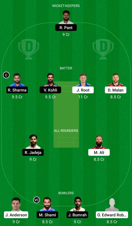 इंग्लैंड बनाम भारत ड्रीम 11 भविष्यवाणी काल्पनिक क्रिकेट युक्तियाँ ड्रीम 11 टीम