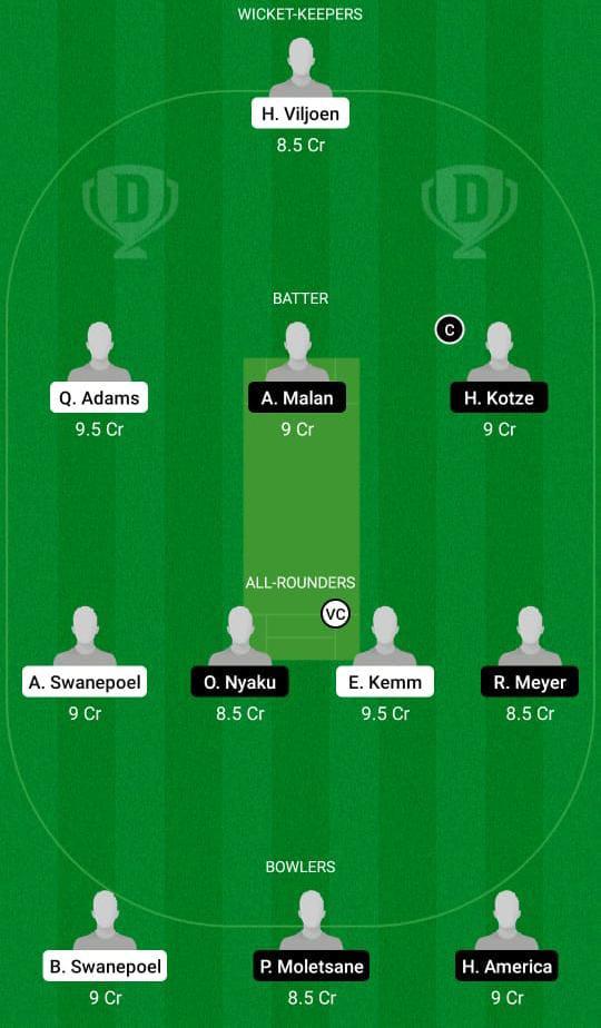 NCH vs SWD Dream11 predicts fantasy cricket skills Dream11 Team CSA T20 Cup