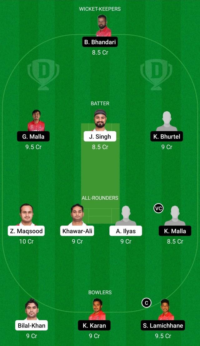 ओएमएन बनाम एनईपी ड्रीम11 भविष्यवाणी काल्पनिक क्रिकेट टिप्स ड्रीम11 टीम सीडब्ल्यूसी लीग-2 एक दिवसीय