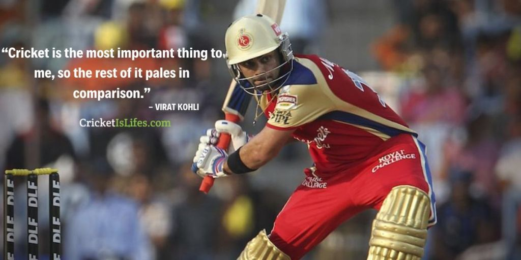 Cricket is the most important thing to me, so the rest of it pales in comparison.