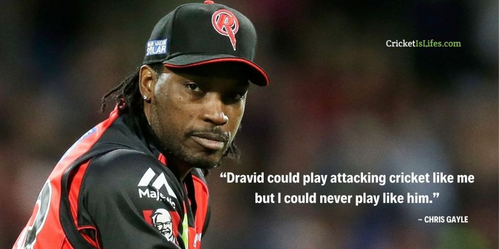 Dravid could play attacking cricket like me but I could never play like him.
