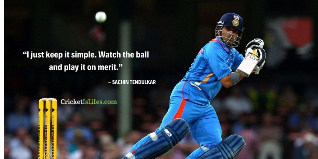 I just keep it simple. Watch the ball and play it on merit.