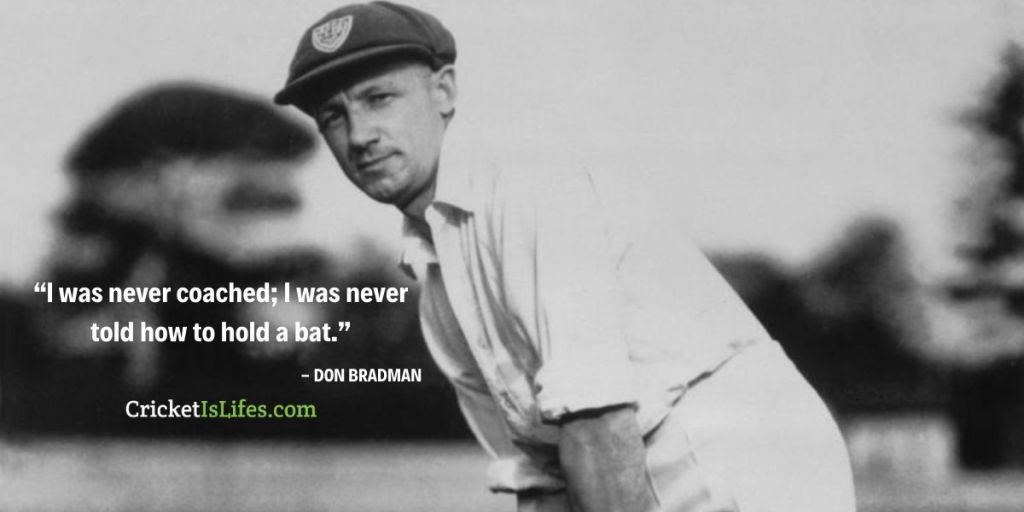 I was never coached; I was never told how to hold a bat.