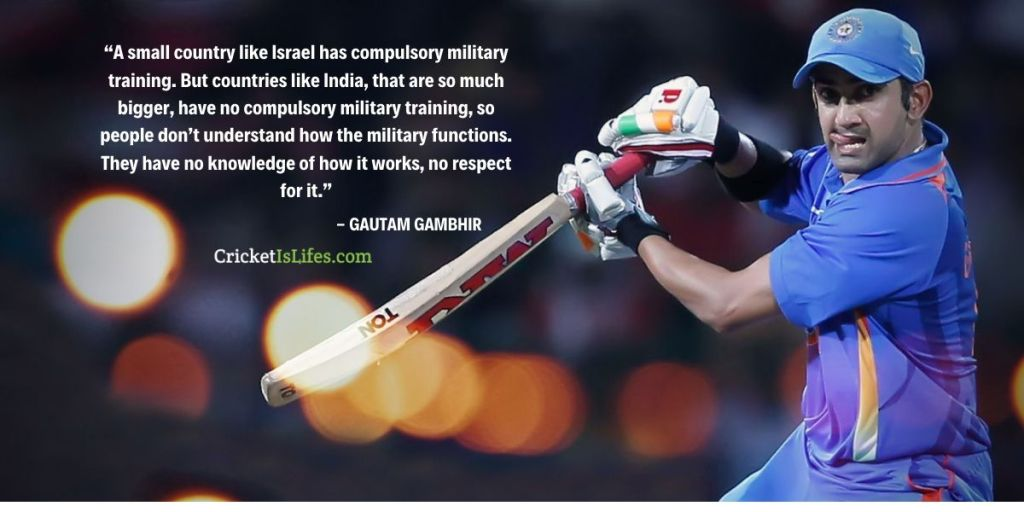 A small country like Israel has compulsory military training. But countries like India, that are so much bigger, have no compulsory military training, so people don't understand how the military functions.