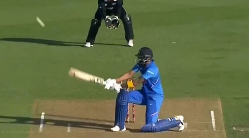 WATCH: KL Rahul's excellent reverse scoop shot in the First ODI at Hamilton
