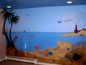 Full wall Mural of their favorite family vacation