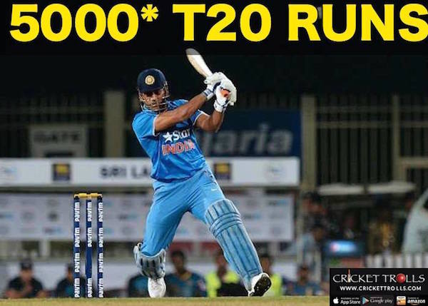 MS Dhoni 5000 T20 Runs