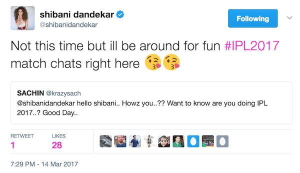 Shibani Dandekar tweet