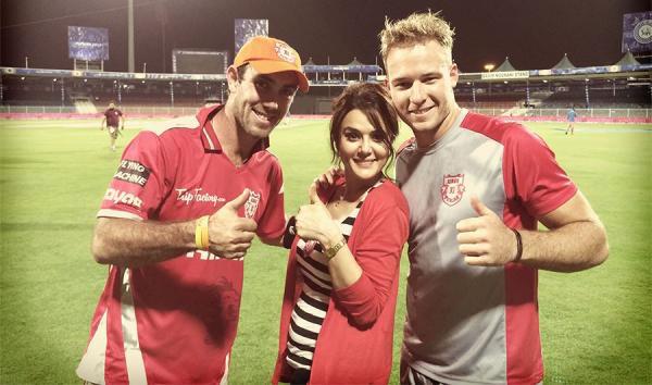 Glenn Maxwell, David Miller, Preity Zinta