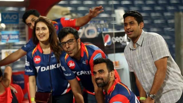 Sagarika, Zaheer in IPL 2017
