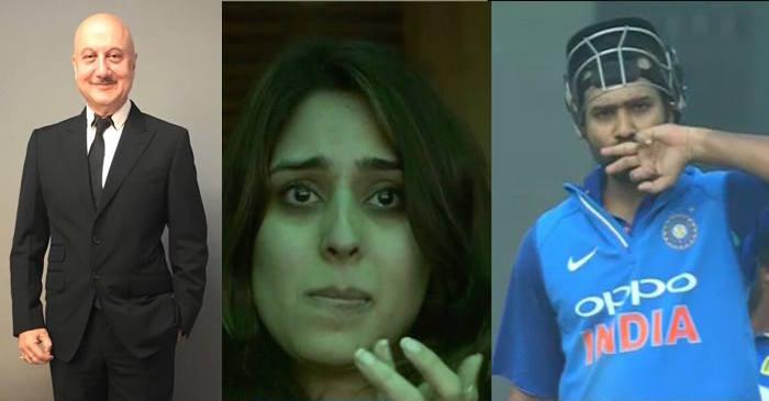 Anupam Kher, Ritika Sajdeh, Rohit Sharma