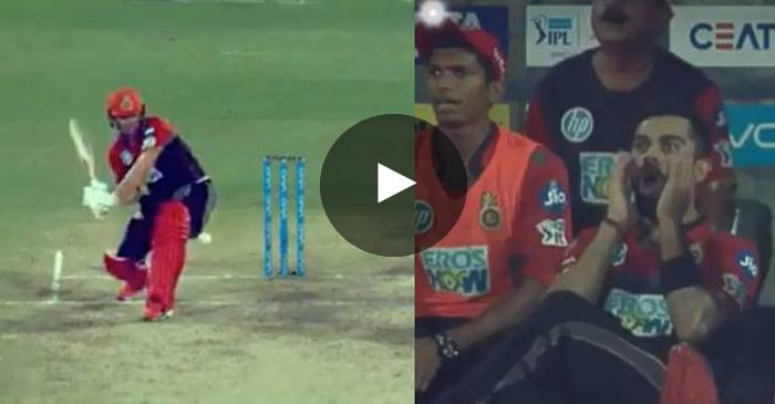 VIDEO AB De Villiers Hits An Unbelievable Six Virat Kohlis Reaction Is A Must Watch The Cricket Times