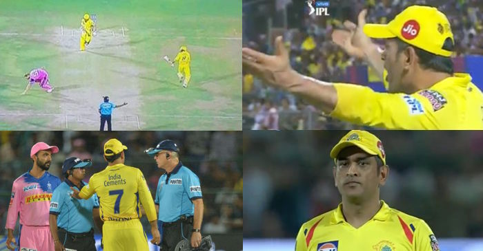 MS Dhoni loses cool at umpire