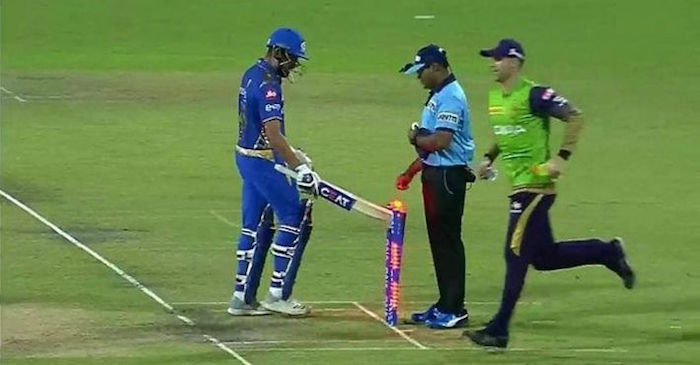 Image result for rohit sharma hits stumps