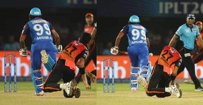 Amith Mishra run-out