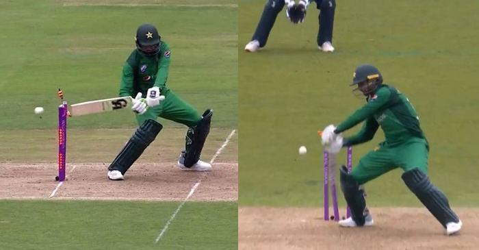 Shoaib Malik hit-wicket