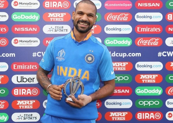 Shikhar Dhawan ruled out of tournament for three weeks with fractured thumb