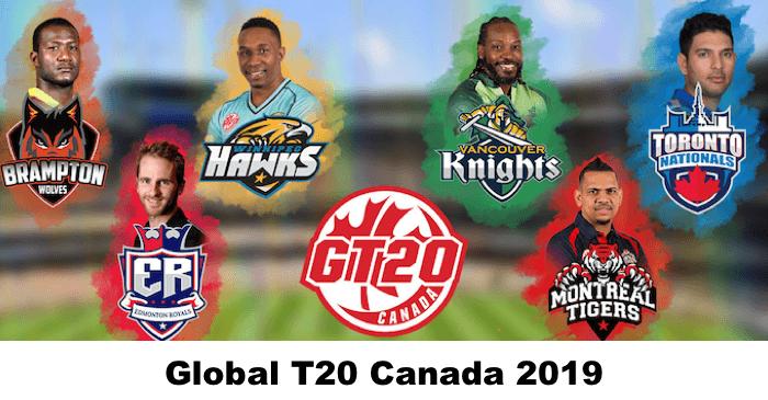 GT20 Canada 2019 Squads