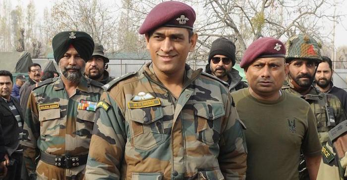 MS Dhoni army regiment