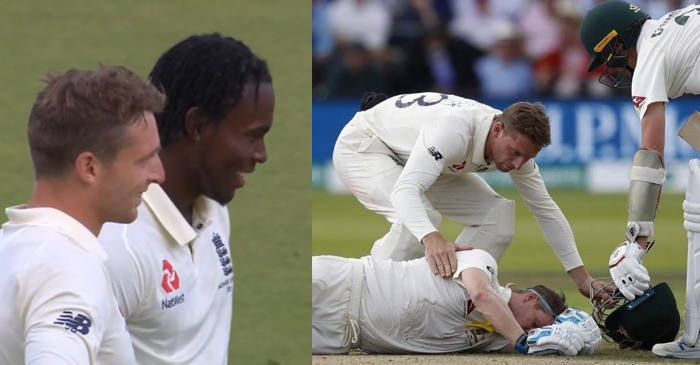 Jofra Archer hits Steve Smith on the neck