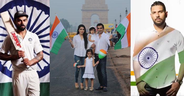 Virat Kohli, Gautam Gambhir, Yuvraj Singh, Independence Day