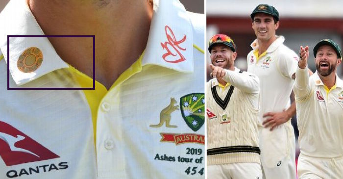 Ashes 2019: Details about the big golden flower on the Australian players' shirt collars