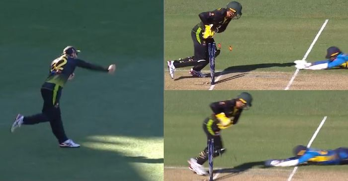 Glenn Maxwell run-out Wanindu Hasaranga