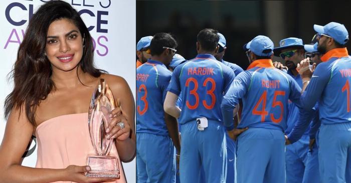 Priyanka Chopra, Indian cricketers