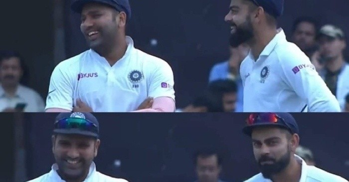 Rohit Sharma, Virat Kohli fielding in slips