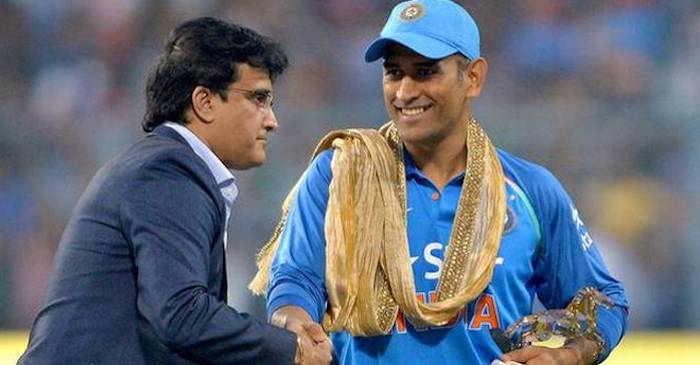 Image result for dhoni with Ganguly