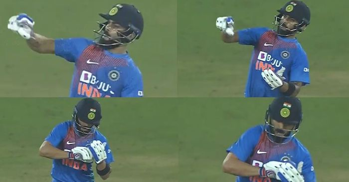 Virat Kohli Notebook Celebration