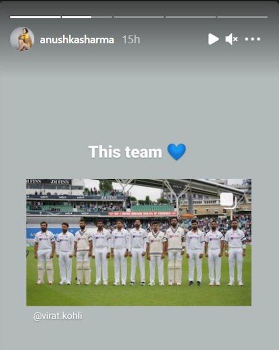 Anushka Sharma Insta story