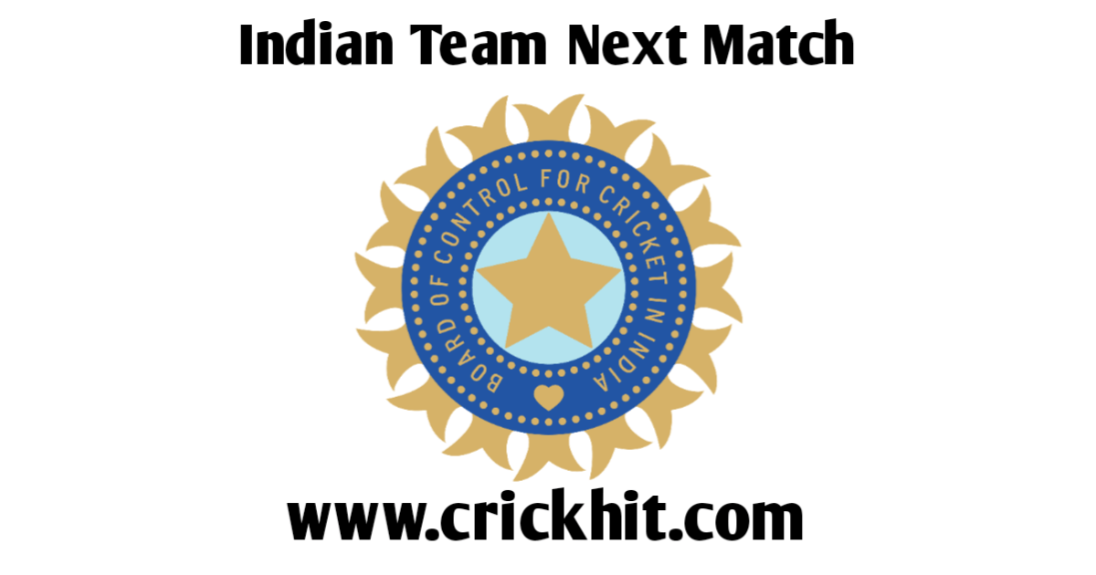 India Next Match in Cricket