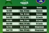 Pakistan vs West Indies Fixtures 2013