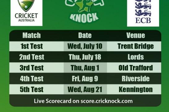 England vs Australia Ashes 2013 Fixtures