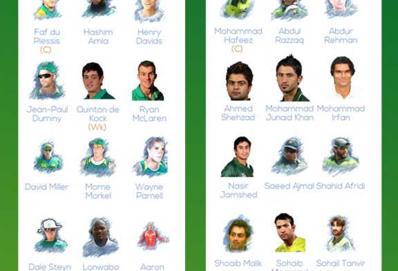 Pakistan vs South Africa T20 Squads 2013