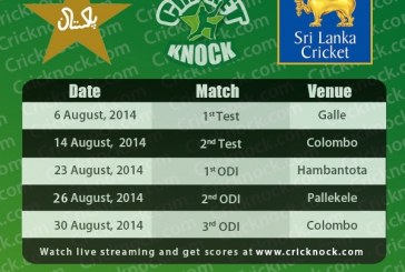 Pakistan vs Sri Lanka August 2014 Cricket Fixtures