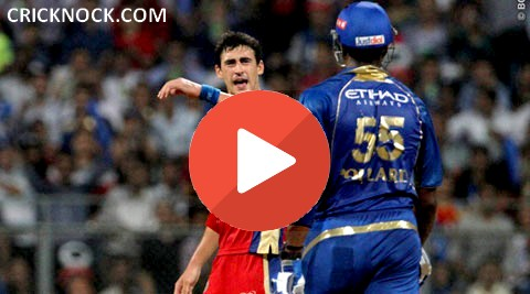 Kevin Pollard and Mitchell Starc Fight in #IPL7