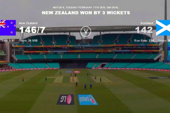 New Zealand vs Scotland Highlights – ICC Cricket World Cup 2015
