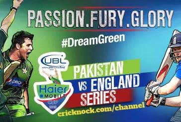 Pakistan Vs England 2015 Fixtures