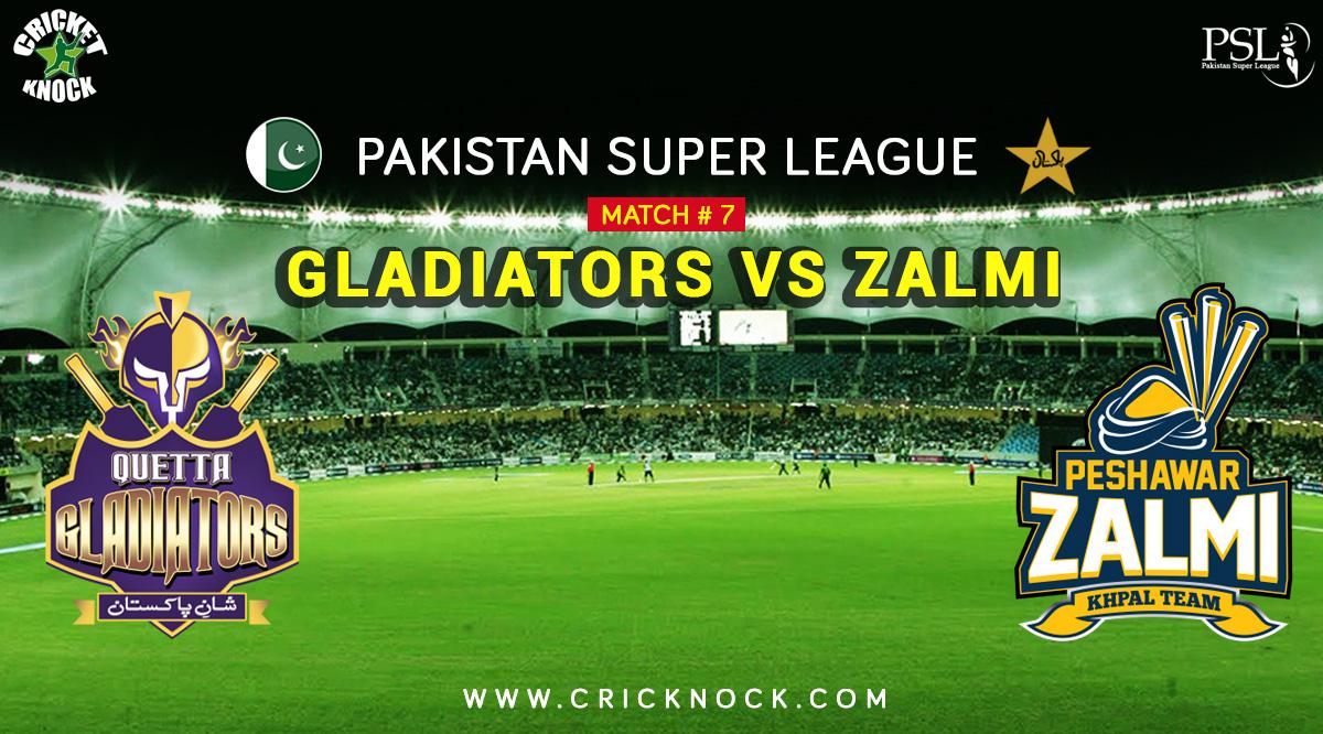 PSL T20 Match 7   Watch Peshawar Zalmi vs Quetta Gladiators Highlights