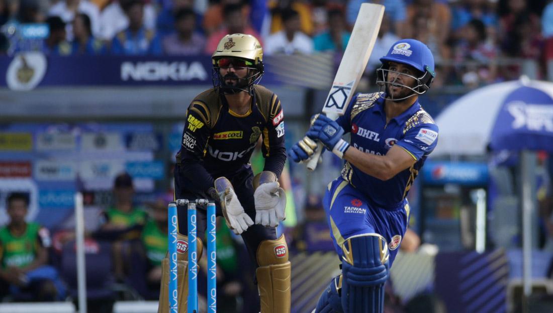Mumbai Indian's JP Duminy bats during the VIVO IPL cricket T20 match against Kolkata Knight Riders