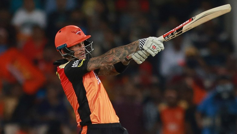 Sunrisers Hyderabad player Alex Hales bats during VIVO IPL cricket T20 match against Delhi Daredevils