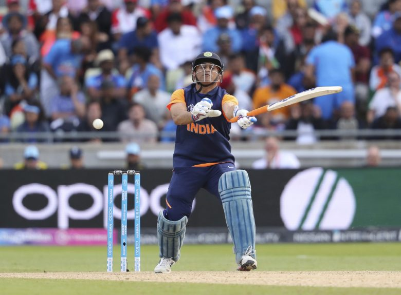 India's Mahendra Singh Dhoni bats